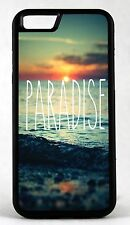 For Apple IPhone 4s 5s 7 Paradise Beach Back Design Rubber Phone Case Cover
