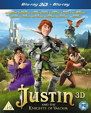 Justin And The Knights Of Valour (3D Blu-ray, 2014)