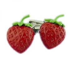 Strawberry CUFFLINKS Red Fruit Seller Picker Cafe Cruise Party Birthday Present