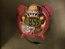 Disney MP3 Speaker Alarm Clock iConnect Plug N Play Rock Out With Camp Rock