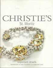 CHRISTIE'S ST MORITZ JEWELS Chopard Graff Van Cleef Winston Youssoufian Catalog