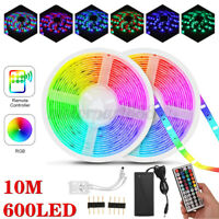 DIY  2835 RGB LED Strip Lights Waterproof IP65 300 LEDs IR Controller Adapter