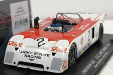 FLY 024102 CHEVRON B21 LUCKY STRIKE CAPETOWN  1973 NEW 1/32 SLOT CAR IN DISPLAY