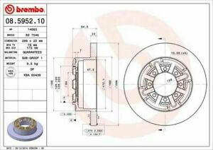 Pair Brake Discs Brembo Rear Fiat For Iveco Daily III 40C