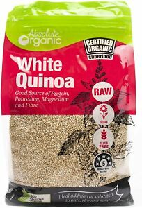 Absolute Organic White Quinoa 1kg | FAST AND FREE SHIPPING | NEW AU