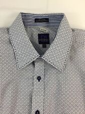 Parc 81 Men's Shirt Size XXL 18-18 1/2 Blue Dress Contrasting Cuffs 100% Cotton