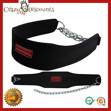 DIPPING BELT DIP WEIGHT LIFTING BODY BUILDING CHAIN GYM PLATE TRAINING STRONGMAN
