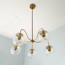 Sputnik Chandelier Brass Industrial Light Mid Century Ceiling Glass Fixture Lamp