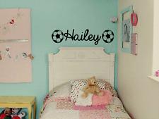 GIRLS PERSONALIZED NAME SOCCER Vinyl Wall Art Decal Kids Children Nursery Room