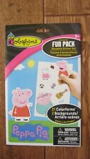 21 PEPPA PIG colorforms FUN PACK & Reusable STICKER SET With 2 Backgrounds