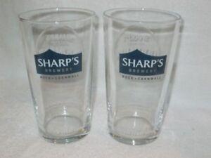 SHARP'S BREWERY DOOMBAR 1 PINT GLASSES X 2