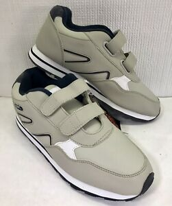 NWT Totes Chromatics Men's Gray Shoes Sneakers Size 9.5 W Hook & Loop