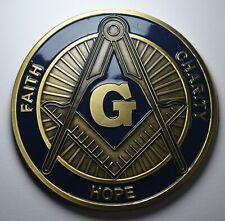 More details for large enamelled masonic car emblem/decoration/badge. freemasonry, mason. 75mm