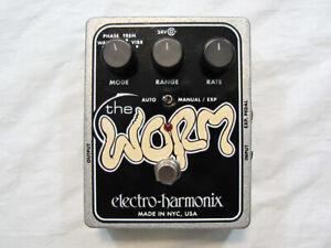 Used Electro-Harmonix The Worm Analog Wah Phaser Vibrato Tremolo Guitar Pedal