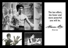 Cartel de Bruce Lee Artes Marciales-motivacionales comillas #19 - A3 - 420mm X 297mm
