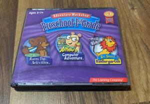 Adventure Workshop Preschool-1st Grade (PC/Apple Mac, 2002, 3 Disc Set) Complete