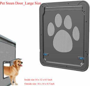Pet Screen Door_Automatic Pet Window Cat/Dog Door Home Lock Mesh Gate_Large Size