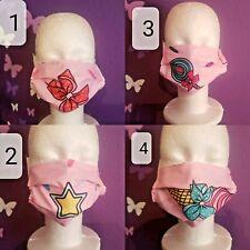 """Kids Girl Face Mask  - Jojo Siwa Theme Size 7"""" x 5 1/2"""""""