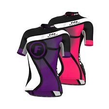 FDX Ladies Cycling Jersey Half Sleeve Top Racing Team Breathable Biking Shirt