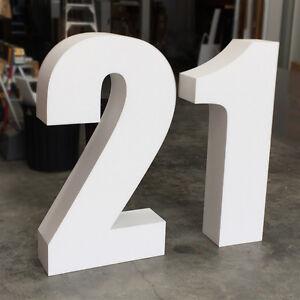 Number 21 (Twenty One) / 21st Birthday Freestanding 3D Large Sign Foam Letters