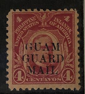 US Philippines 4 Centavos Guam Guard Mail Mint/Unused