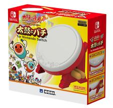NEW HORI TAIKO NO TATSUJIN Drum & BACHI set for Nintendo Switch Japan import