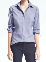 NWT Banana Republic New $68 Women Riley Tailored-Fit Solid Shirt Size 0, 2, 4, 8