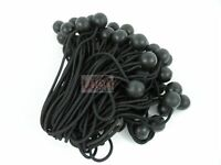 "100pc 6"" Ball Bungee Bungi Bungie Cord Tarp Tie Down Strap Canopy Black NEW"