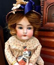 Stunning 17� Auburn Kestner 154 Cabinet Doll Jdk Antique German Bisque Head Kid