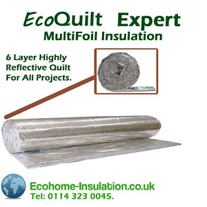 EcoQuilt Expert Multifoil Insulation-Complete Easy DIY Home Loft Insulation Kit
