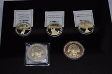 Lot of 5 American Mint Anniversary Swarovski Collection & President Coins [10DU]