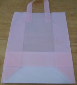 Frosted Plastic Shopping Bags Retail Merchandise Gift Party Tote LOT Bulk Medium