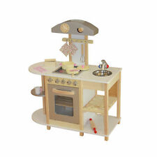 Wooden Toy Kitchen W/ Breakfast Bar