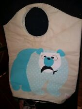 3 Sprouts super large tote polar bear Canvas Tote Bag