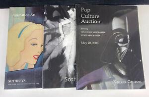 3 Superior & Sotheby's Pop Culture, Animation Art & Photography Auction Catalogs