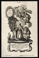 santino incisione 1700 S.GALLA VED. DI ROMA   klauber
