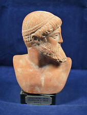 Zeus or Poseidon ceramic sculpture bust ancient Greek artifact
