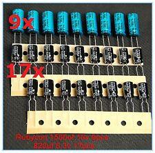 Xbox 360  Motherboard (HDMI Port) Capacitor Repair Kit 1500uf 16v 820uf 6.3v