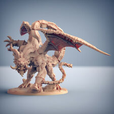 Ashen Manticore 3D Printed Miniature Neckbeardia