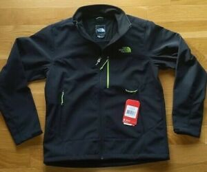 THE NORTH FACE Apex Bionic Mens S Softshell Jacket/Coat Black/Green NEW $149