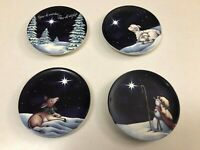 "Set 4 MWW Market Susan Winget Star of Wonder Star of Night 4"" Plates"