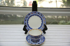 Vintage Trio Russian Imperial Tea Cup, Saucer and Plate Blue & Gold