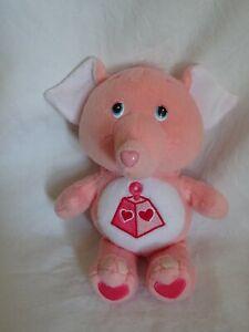 "Care Bear Cousins Lotsa Heart Elephant Soft Plush Toy Pink 8"" 2004"
