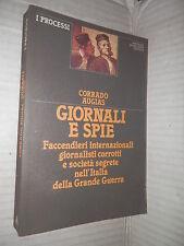 GIORNALI E SPIE Corrado Augias Mondadori 1983 Prima edizione storia libro di