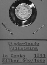 Niederlande 10 Cents 1893 - Silber