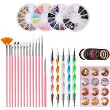 Nail Art Set Design Painting Dotting Detailing Pen 15pcs Brushes Bundle Tool Kit