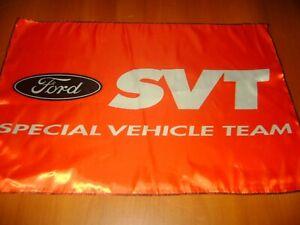 "FORD SVT Logo 20x30"" Flag Banner American Garage Racing Shop Decor FORD Sport"