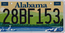 🌎⚜🐦⚜🌎  AUTHENTIC USA 2010's ALABAMA LICENSE PLATE.  HEART OF DIXIE. WOW !!
