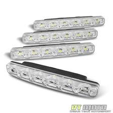6 Smd White DRL [Eye Catching Luxury Led] Daytime Running Bumper Fog Lights+Wire