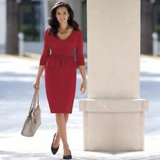 NEW WOMENS MONROE & MAIN RED MARILYN PEPLUM DRESS PLUS SIZE 16W 16 W